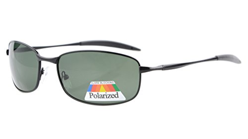 Eyekepper Metallrahmen Angeln Golf Radfahren Fliegen im Freien polarisierten Sonnenbrillen Schwarz