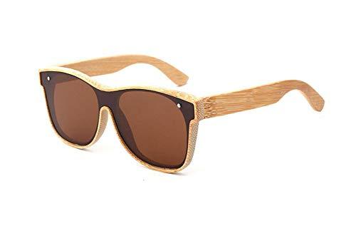 GY-HHHH Klassisches Retro-Outdoor-EssentialBambus Holz Brille eine Linse Sonnenbrille Damen fahren Reisen polarisierte Sonnenbrille-braun