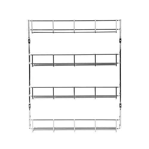 EXZACT EXSR004-4 Gewürzregal 4 Ebenen/ Herb und Spice Rack 4 Tiers - Küchenregal Organizer für Gläser, perfekt platzsparend und Lagerung (4-stufig) - Spice Rack