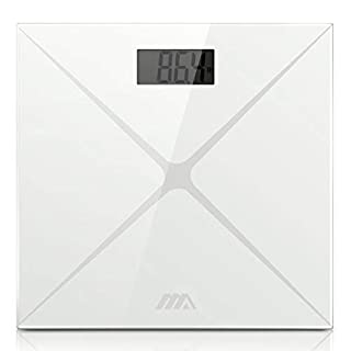Bathroom Scales Digital Precision ADORIC Body Weight Scale with Compact Slim Glass Large Display Stylish Design for Home Gym Office