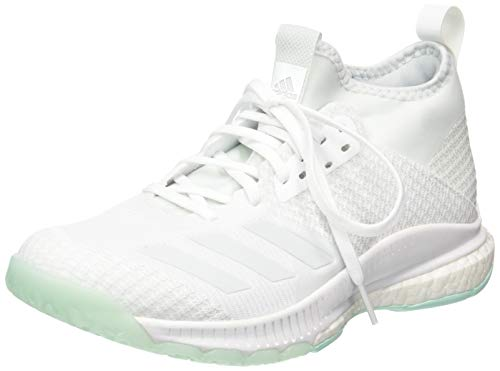 adidas Damen Crazyflight X 2 Mid Volleyballschuhe, Weiß FTWR White/Blue Tint S18/Clear Mint, 38 EU
