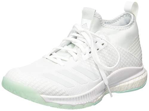 adidas Damen Crazyflight X 2 Mid Volleyballschuhe, Weiß FTWR White/Blue Tint S18/Clear Mint, 38 EU - Adidas Volleyball Schuhe