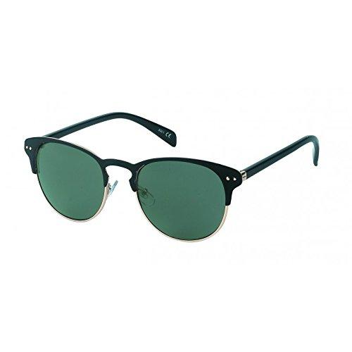 Chic-Net Panto Metall Sonnenbrille rund John Lennon Stil Punkte Vintage 400UV getönt Cat Eye schwarz