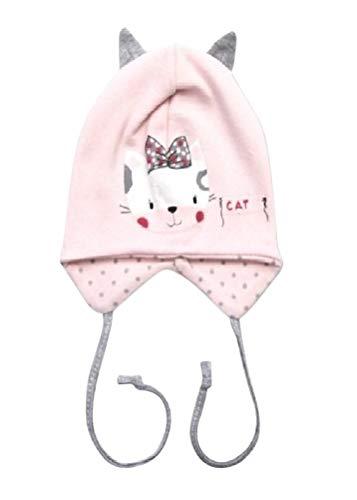 Seruna Baby-Mütze BY36 Gr. 62, Erstlings-Mützchen Katze-n Motiv klein-e Mädchen Babies Säugling-e Geschenk-e (Ausgefallene Kleider Für Kleine Mädchen)
