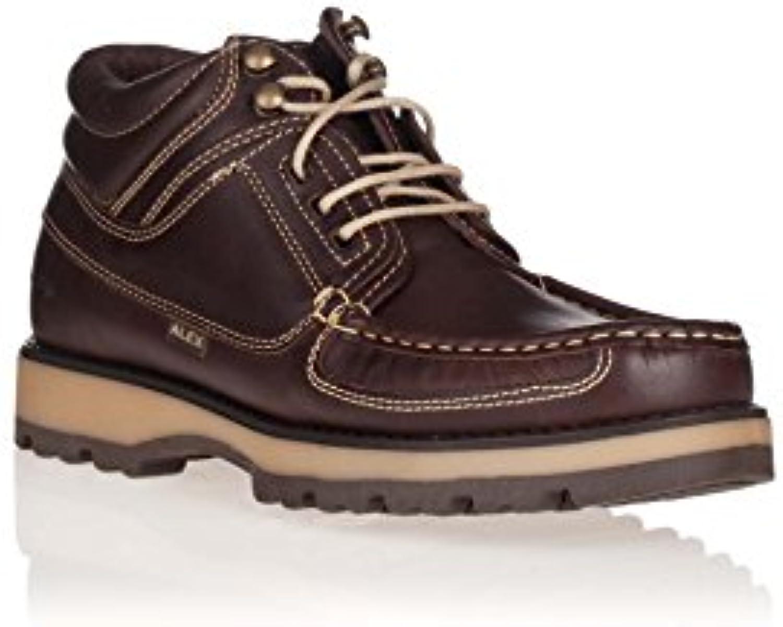 Alex Botín de Piel engrasada  Zapatos de moda en línea Obtenga el mejor descuento de venta caliente-Descuento más grande