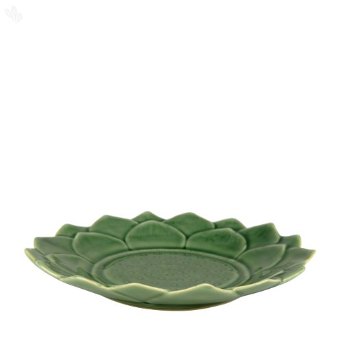 Zansaar Exclusives Serving Plate Ceramic Lotus Celadon