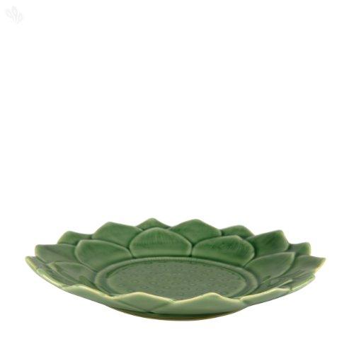 Zansaar Exclusives Serving Plate Ceramic Lotus Celadon