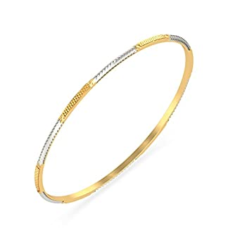 BlueStone 18k (750) Yellow Gold Divyashree Bangle