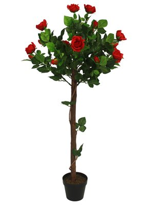 2-x-artificial-4ft-120cm-rose-ball-flowering-tree-plant-great-gift-wedding-home-office-red