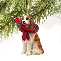 Cavalier King Charles Spaniel Miniatur Ornament-braun & W -