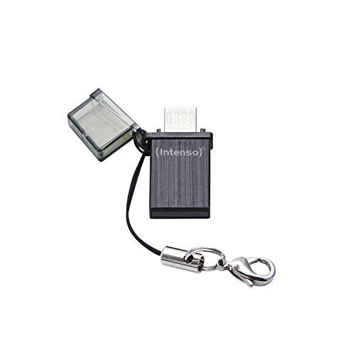 Intenso Mini Mobile Line On-the-go 16 GB USB-Stick USB 2.0 (USB und micro-USB) schwarz - Befestigen 16 Gb Usb