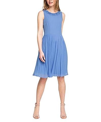 ESPRIT Collection Women's 036eo1e015 - Fließende Chiffon Qualität Sleeveless Dress - blue - 16