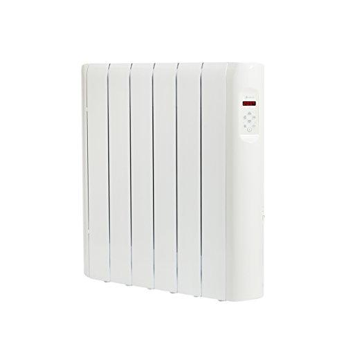 Haverland RC6E - Emisor Térmico Digital Fluido Bajo, Programable, Exclusivo Indicador de Consumo, 6 Elementos, 750 W, Blanco