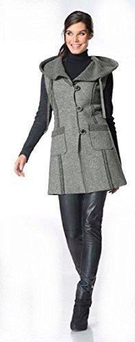 Kurzmantel Mantel von Ashley Brooke - Grau Gr. 40