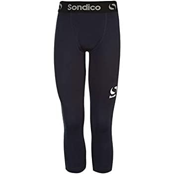 Juniors Boys Branded Sondico Compression Core Tights Base Layer 11-12 Yrs, Red