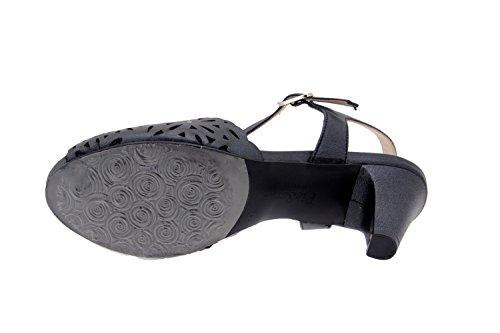 Komfort Damenlederschuh Piesanto 2280 sandale pumps abendschuh bequem breit Negro