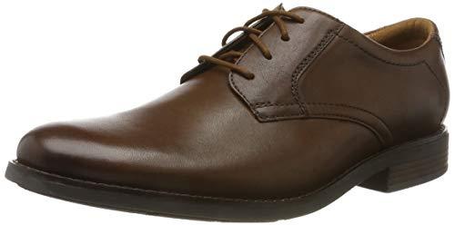 Clarks Men's Becken Lace Brogues, Braun (Dark Tan Leather), 43 EU