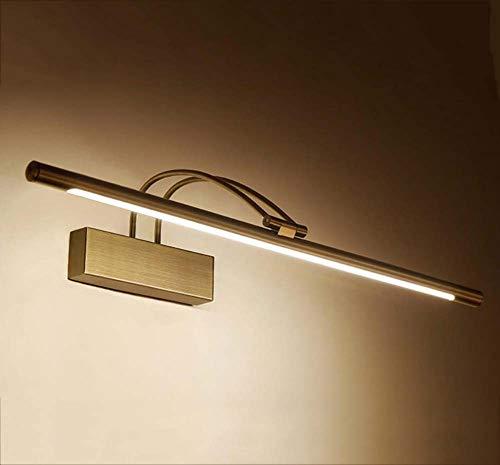 LED-Spiegel-Lichter, Badezimmer-Acrylaugen-Sorgfalt-Wandlampe, wasserdichter und Anti-Nebel Spiegel-Frontlicht-Lampe, 240 Grad-Justage YDYG (Farbe : Bronze-Neutral light-61cm)