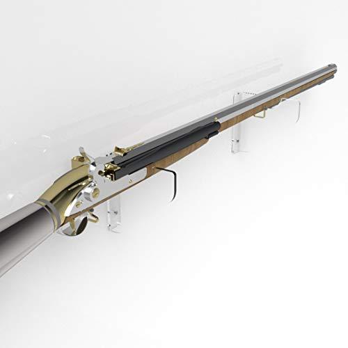 Gewehrhalter / Muskete-Halterung, Acryl, transparent, farblos
