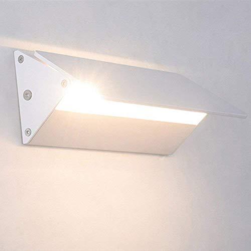 Esszimmer-modern-bett (Lightsjoy 5W Wandleuchte LED Innen Modern Wandlampe Weiß Wandbeleuchtung Warmweiß Up Down Einstellbar Lichtwinkel Innenleuchte für Wohnzimmer Schlafzimmer Treppenhaus Flur Bett Küche Esszimmer Hotel)
