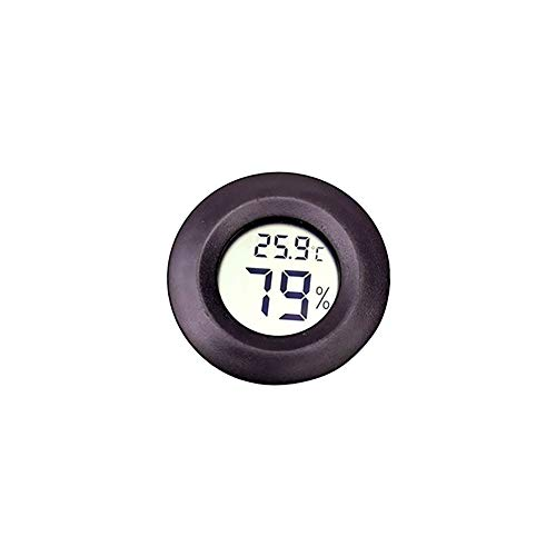 MaoDian 1PC del Reptil Ronda termómetro Pantalla LCD higrómetro Metro de la Temperatura del terrario...