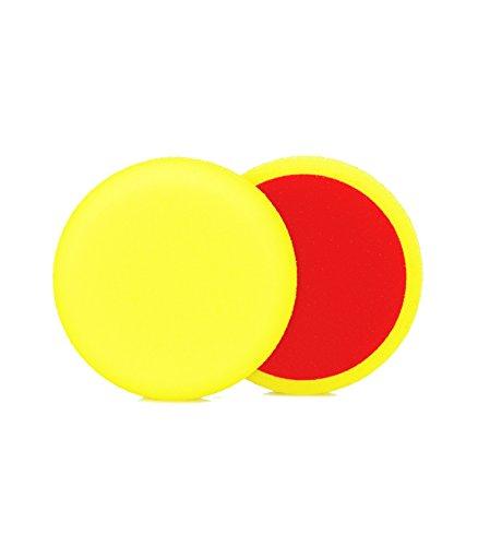 ALCLEAR 5513530M Schleifpad, Medium, Durchmesser : 135 x 25 mm, gelb ,2er Set