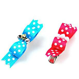 Artikelbild: H:oter pink / blue wave Punkt Haarschmuck / Haarspangen Typ A, Preis / Paar, Farbe zuf?llig, Heimtierbedarf, Weihnachtsgeschenk