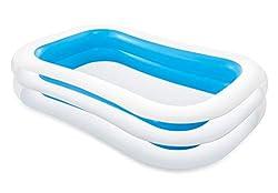"Intex Swim Center Familien Inflatable Pool, 103"" x 69"" x 22"" (Sortiert Farbe: Blau oder Grün)"