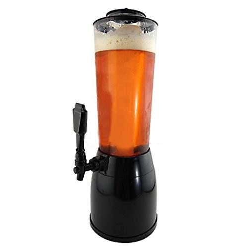 a-fort Rack Holder Máquina de bebidas de refrigeración y de congelación de Cube en hielo de 2,5L/dispensador de cerveza/agua, dispensador de cerveza–Base Negra 2.5L