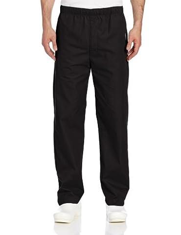 Landau Men's Elastic Drawstring Scrub Pant - Black -
