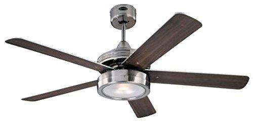 31ZpgbOgjxL - Westinghouse Ceiling Fans 78545 Hercules One-Light 132 cm Five-Blade Indoor Ceiling Fan, Brushed Nickel Finish