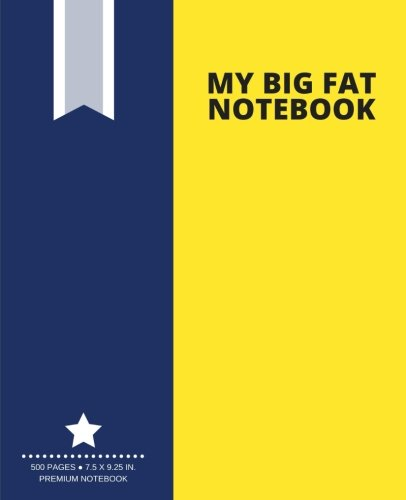 my-big-fat-notebook-500-pages-yellow-extra-large-notebook-journal-diary-75-x-925-in