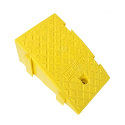 Street Solutions Rampe di plastica for cordoli, rampe di cordoli con maniglia for il trasporto, progettate sia for scooter che for sedie a rotelle 40 * 25 * 16 cm (Color : Yellow)