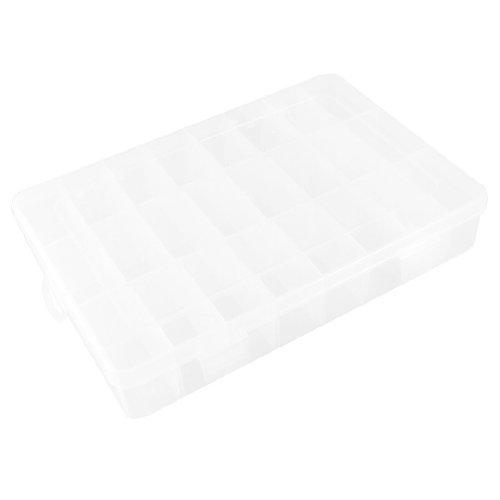 Trasparente Plastica Bianco 24Slot Componenti elettronici Storage Case Organizer