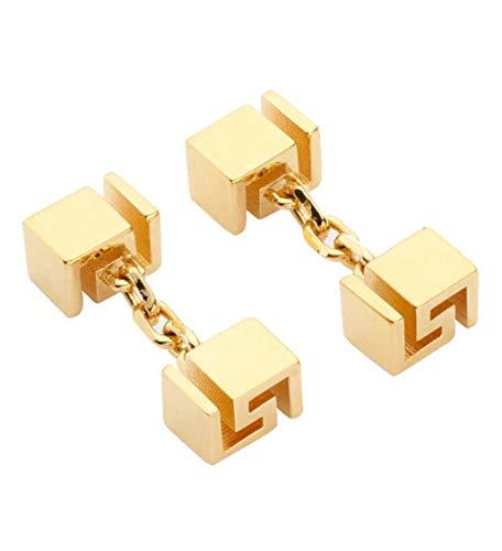 VERSACE Herren-Manschettenknöpfe goldfarben griechischer Schlüssel
