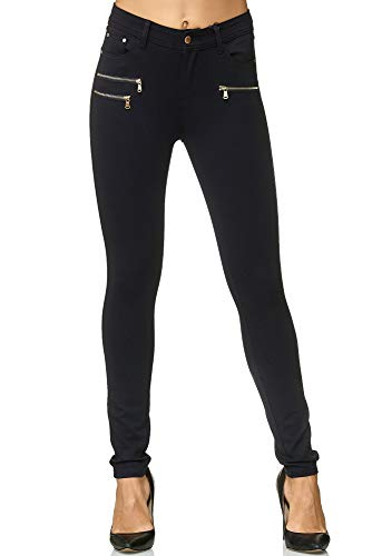 Elara Damen Stretch Hose Skinny Fit Jegging Chunkyrayan H86-1 Navy 40 (L)