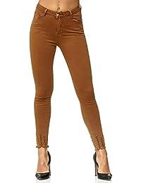 da6417580e Elara Damen Jeans Hose Stretch| High Waist | Skinny Röhrenjeans| Slim Fit |  Hochschnitt