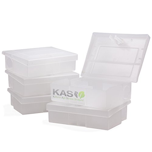 KAS - Köderbox für Mäuse - Mäuseköderbox Mäusefalle Köder Mäusegift (5, Transparent)