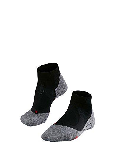 FALKE Damen Socken Laufsocken RU4 Cushion Short - 1 Paar, Gr. 37-38, schwarz, feuchtigkeitsregulierend, Sportsocken Running