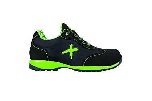 Exena 1100072321474 - Verde - scarpe di protezione del lavoro, dimensione 47, nero e verde Nero e verde