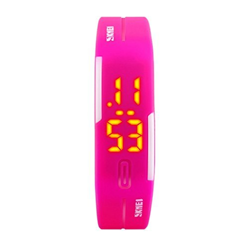 TTLIFE-1099-Unisex-Sport-Ladies-Watch-Female-Digital-Wrist-Watch-Waterproof-Outdoor-rose-red