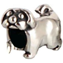 De CARLINO Everbling auténtico Animal de perro 925 cuentas de plata de ley cuenta para pulsera compatible con joyas Pandora Biagi Chamilia Troll Europen pulseras colgantes