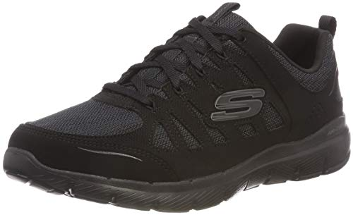 85ad86c7f2 Skechers Flex Appeal 3.0-Billow, Baskets Femme Noir (Black Leather/Mesh/