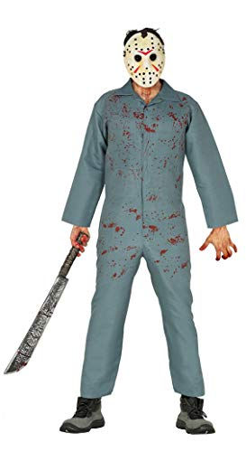 Guirca costume horror uomo adulto jason voorhees venerdì 13 halloween killer assassino hockey taglia: l 52-54