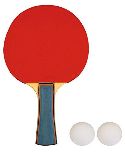 Schreuders Sport Unisex 1Stern Holz Tischtennisschläger, rot, one size