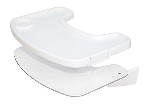 roba Essbrett aus Holz mit weißer Lackierung, mit durch Clips abnehmbares weißes Kunststofftray, für den roba Treppenhochstuhl \'Move\'