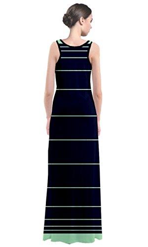 CowCow - Robe - Femme Multicolore Noir et blanc Bleu - Bleu marine