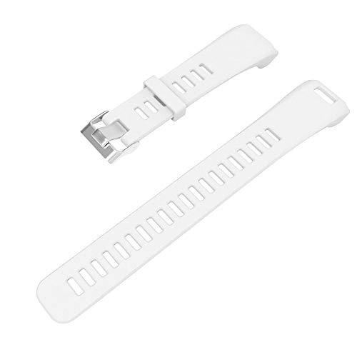 Vamoro Ersatzarmband aus weichem Silikonarmband für Garmin Vivosmart HR Silikonband Ersatz Uhren-Armband Ersatzband Uhrenarmbänder(Weiß)