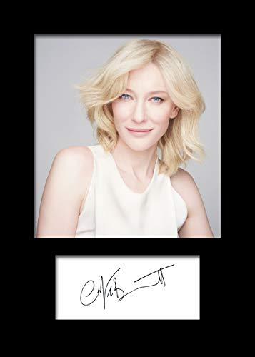 Frame Smart CATE Blanchett #2 | Signierter Fotodruck | A5 Größe passend für 6x8 Zoll Rahmen | Maschinenschnitt | Fotoanzeige | Geschenk Sammlerstück