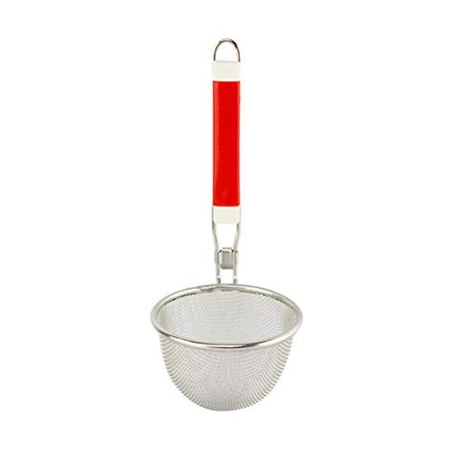 BESTONZON Schaumlöffel Edelstahl Mesh Spider Nudelsieb Mesh Sieb Skimmer Korb mit Griff für Küche 14cm Spider-skimmer